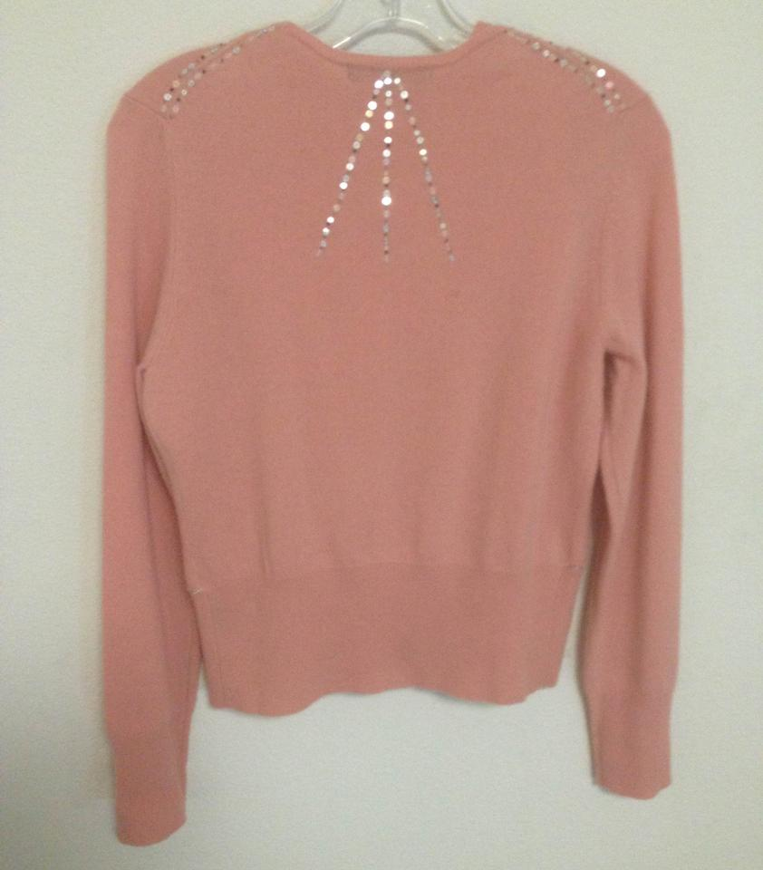 69b96656415 Peach Cashmere Twin Set Cardigan Size 4 (S)