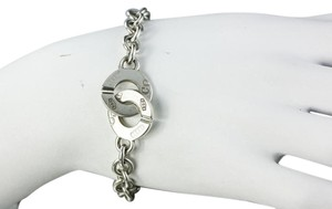 Tiffany & Co. *Tiffany & Co Silver 1837 Circle Clasp Link Toggle Bracelet Bangle