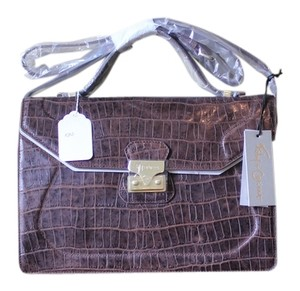 Foley + Corinna Brownie Crocodile Messenger Bag