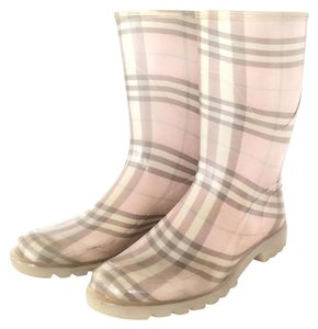 Burberry Wellies Nova Pink Candy Check Boots