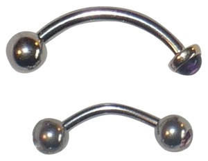 Embellished Curved Barbell Banana Bell x2