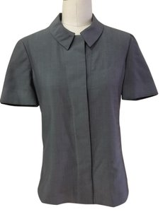 Calvin Klein Modern Collared Button Down Shirt Grey