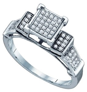 BrianG 10k WHITE GOLD 0.20 CTTW DIAMOND LADIES MICRO PAVE LUXURY FASHION RING