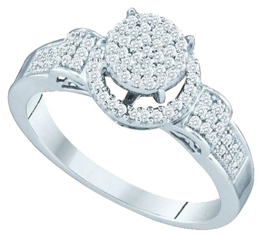 Other BrianG 10k WHITE GOLD 0.25 CTTW DIAMOND LADIES MICRO PAVE LUXURY FASHION RING