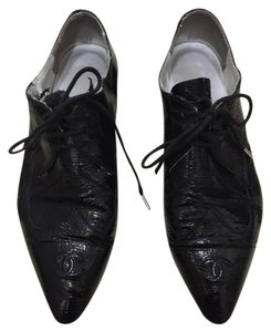 Chanel Patent Leather Black Flats