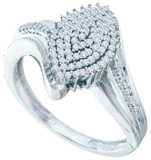 Other BrianG DESIGNER 10k WHITE GOLD 0.30 CTTW DIAMOND LADIES MICRO PAVE LUXURY FASHION RING
