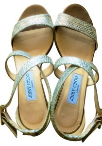 Jimmy Choo Wedge Wedding Bridal Summer Wedding Beach Wedding Champagne Sandals