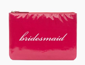 Kate Spade Pink Wedding Belles Bridesmaid Gia Cosmetic Bag