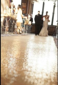 Glam Rose Gold Sequin Aisle Runner