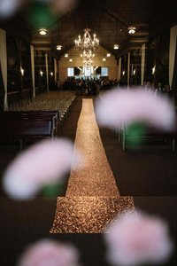 Rose Gold Sequin Aisle Runner