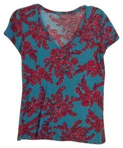 Lilly Pulitzer T Shirt Blue, Navy, & Pink/Red