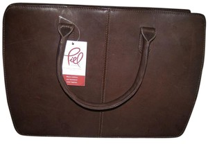 Peil Briefcase Business Case Satchel in Brown-Chocolate