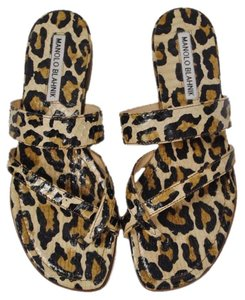 Manolo Blahnik Leopard print on snakeskin Sandals