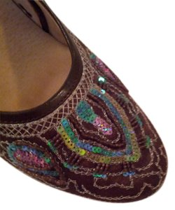 Two Lips brown with multi color embellishment Formal
