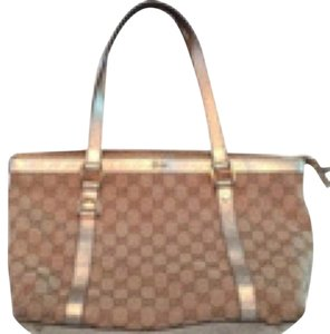Gucci Tote in Tan/Gold Trim