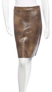 BCBGMAXAZRIA Leather Max Azria Skirt Olive Green