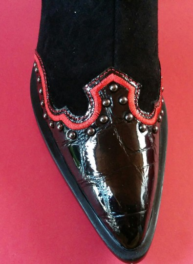 Vaneli Jemmy Cowboy New In Box Black Black Cowboy Black/Red Boots