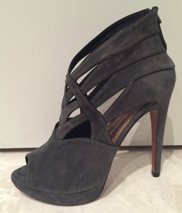ALAA Azzedine Suede Cut Out Grey Platforms