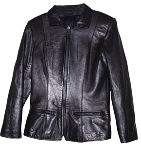 Leather Black Blazer
