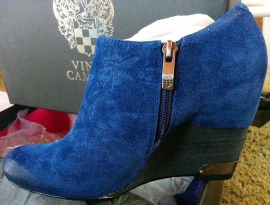 Vince Camuto Hamil 6 Unworn New In Box Oxford Blue Aged Suede Boots