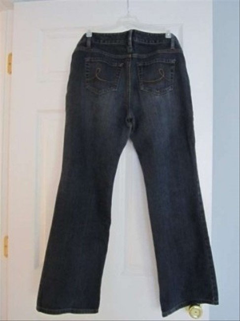 Ann Taylor LOFT Boot Cut Pants Dark Blue