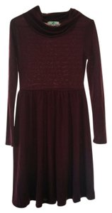 Modcloth short dress Maroon Cowl Neck Longsleeve on Tradesy