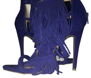 Candie's New Stilettos Tassels Fringe Royal blue Formal