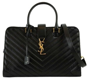 Saint Laurent Ysl Ysl Satchel in Black