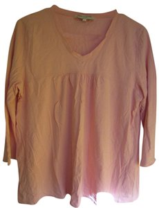 Jones New York Pleated T Shirt Pink