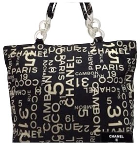 Chanel By The Sea Summer Beach Cruise Wear Tote in Black & White
