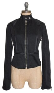 Joie Moto Zipper Frayed Motorcycle Jacket
