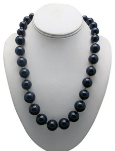 Sobral BLUE lucite resin necklace Graduated BEADS