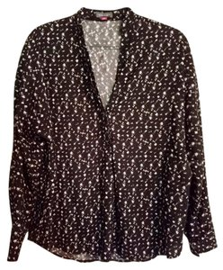 Vince Camuto Top Black white pattern