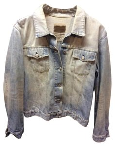 Helmut Lang Vintage Archival Designer Distressed Faded Denim Womens Jean Jacket