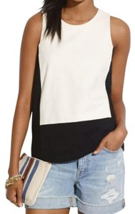 Madewell Top White and black