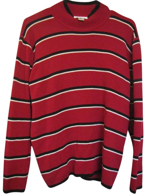 Preload https://img-static.tradesy.com/item/1649256/talbots-red-with-black-and-white-stripes-sweaterpullover-size-petite-8-m-0-0-650-650.jpg