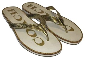 Coach Gold/White Sandals