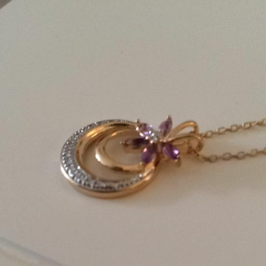 Other Gold Plated Pendant With Crystal Flower