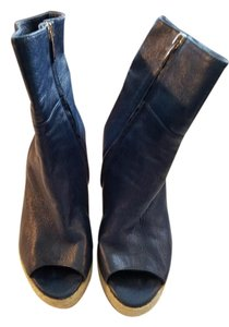 Sergio Rossi Navy Blue Boots