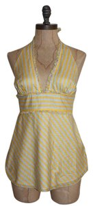 J.Crew Summer Striped Halter Top YELLOW