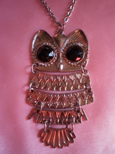 Body Central New Silvertone Owl necklace