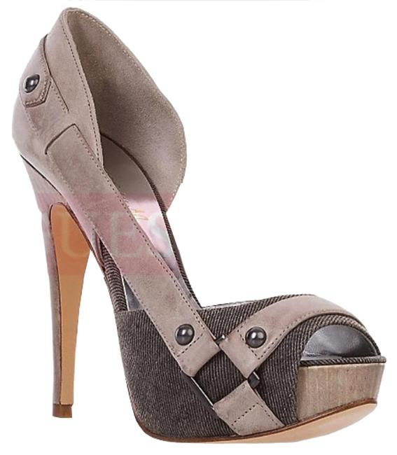 Guess By Marciano Gray Multi Leather Kira Pumps Size US 8.5 Regular (M, B) Guess By Marciano Gray Multi Leather Kira Pumps Size US 8.5 Regular (M, B) Image 1