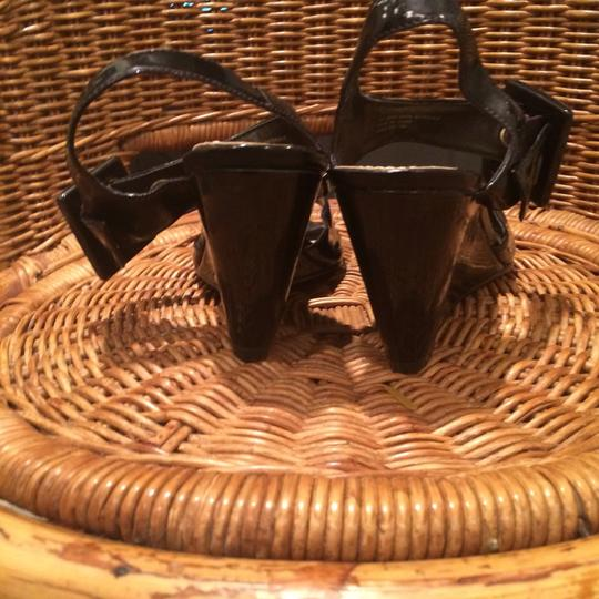 Cato Black Faux Leather/Buckles Wedges Image 3