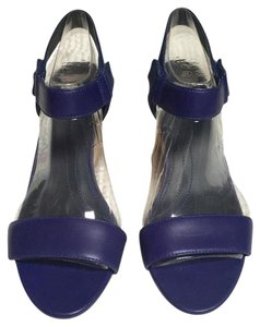 Camper Wedge Ankle Strap Sandal blue / purple Sandals