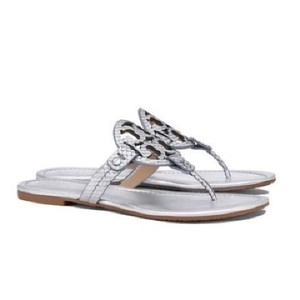 84c1c57351f0 Silver Tory Burch Sandals - Up to 90% off at Tradesy