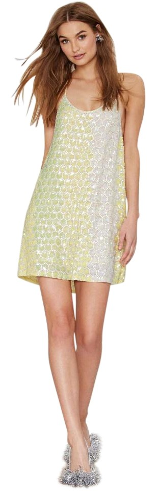 d5f64dab MLV Yellow Sequin Ombre Terra Mermaid Mini Night Out Dress Size 4 (S ...