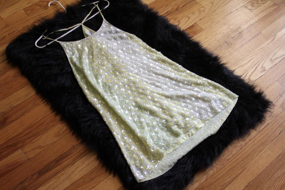a3ffb620 MLV Yellow Sequin Ombre Terra Mermaid Mini Night Out Dress Size 4 (S) -  Tradesy