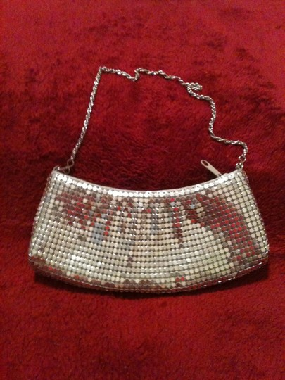 Other Metalic Mesh Prom Silver Clutch Image 1