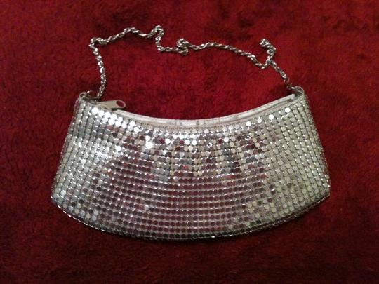 Other Metalic Mesh Prom Silver Clutch Image 2