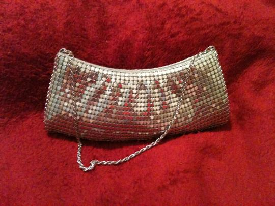 Other Metalic Mesh Prom Silver Clutch Image 5